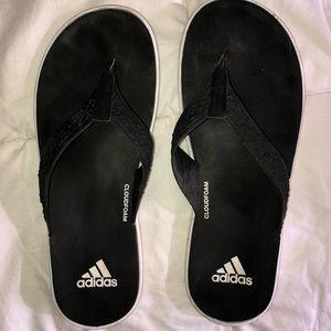 Adidas cloud foam flip flops
